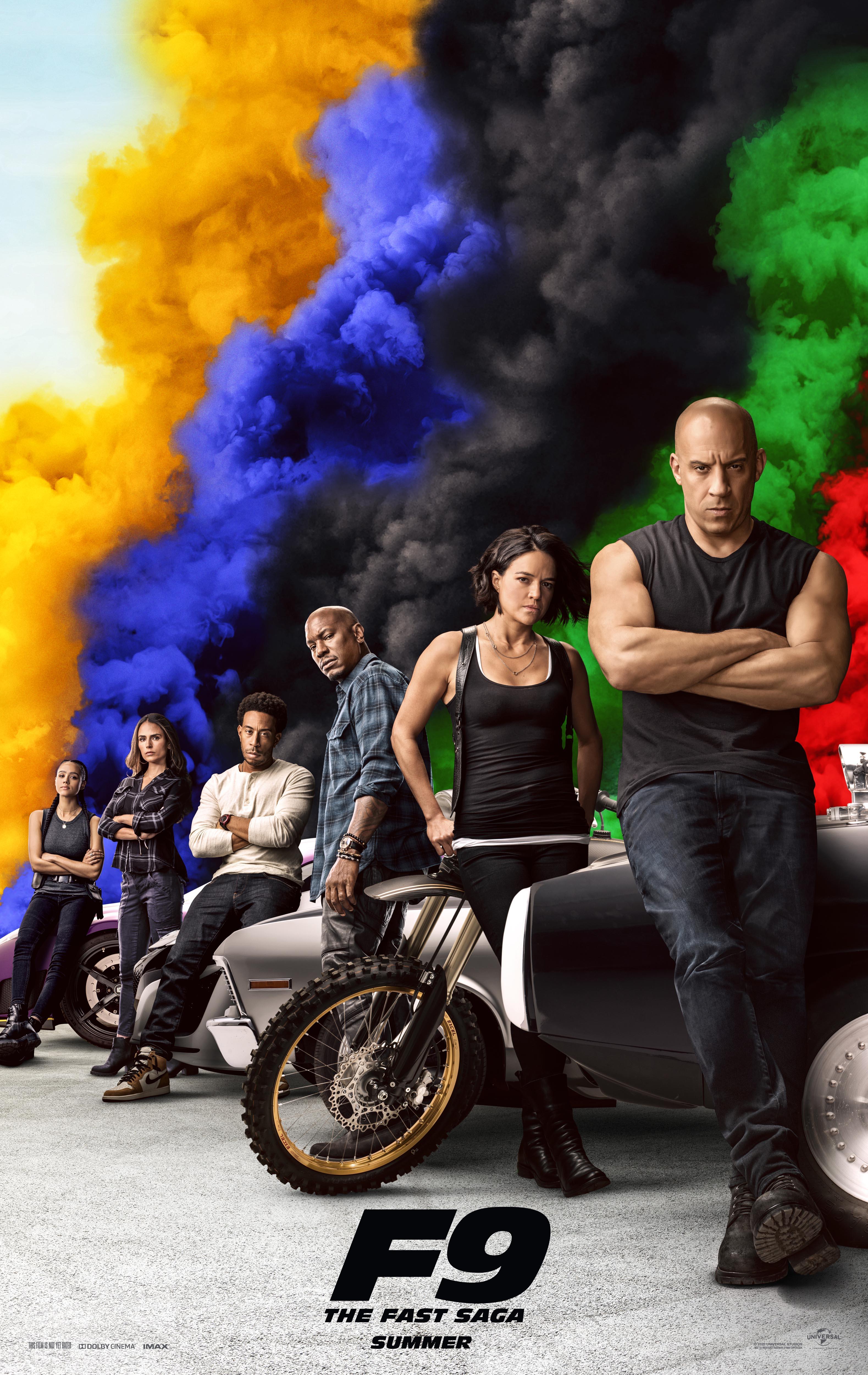 F9, Vin Diesel, Michelle Rodriguez, Tyrese Gibson, Ludacris, Jordana Brewster, Nathalie Emmanuel