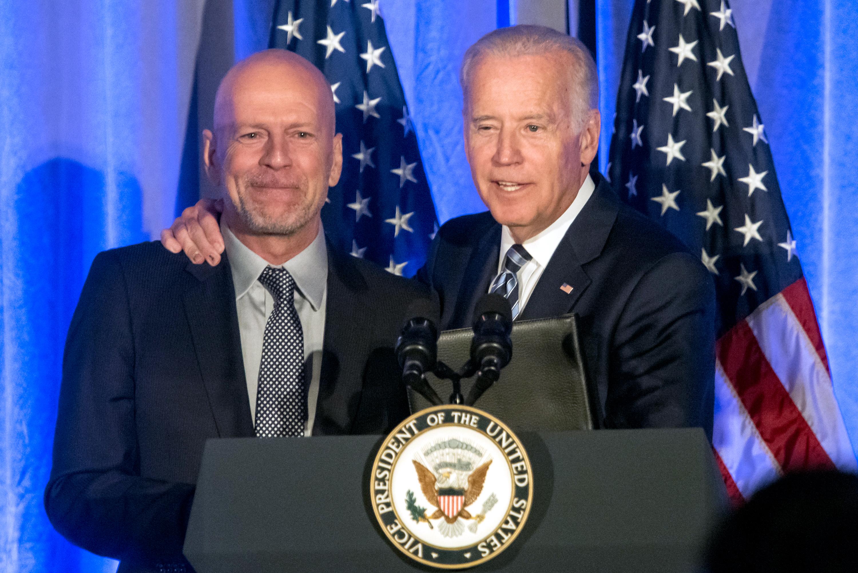 Bruce Willis and Joe Biden
