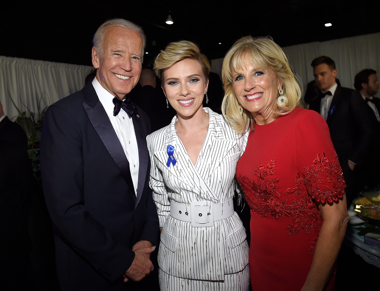 Joe Biden, Scarlett Johansson and Jill Biden