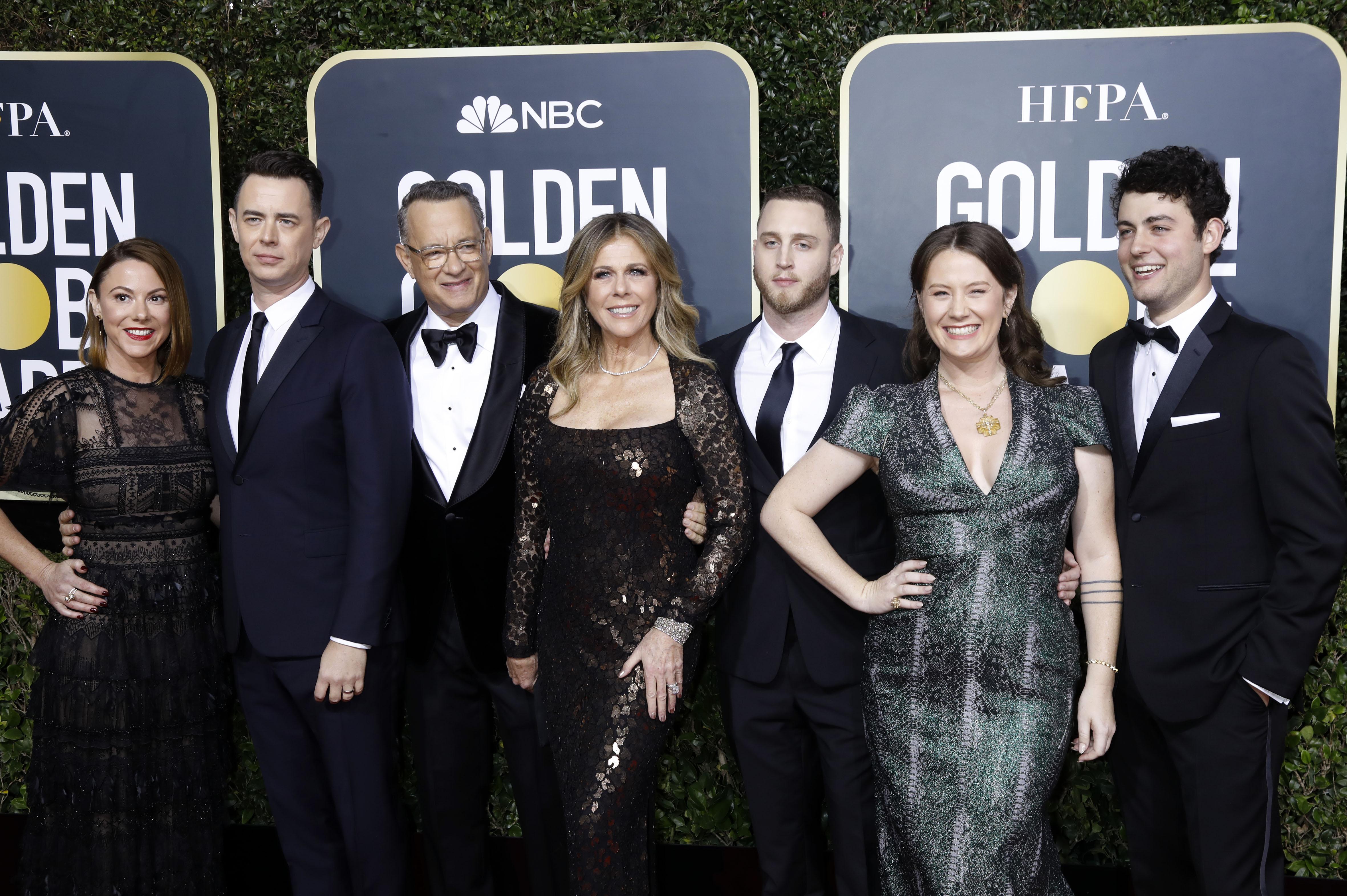 Samantha Bryant, Colin Hanks, Rita Wilson, Tom Hanks, Elizabeth Ann Hanks, Chet Hanks, Truman Theodore Hanks